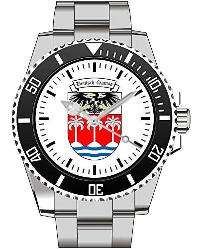 Deutsch Samoa Deutschland Deutsche Kolonie Wappen Kaiserreich Armbanduhr - Uhr 1144