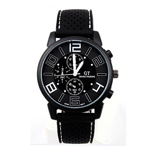GT New Cool Silikon Gurt GT Sport Uhren Quarz Armbanduhr weiss