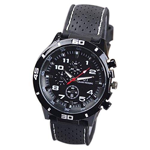 Maenner Armbanduhr GT Maenner Armbanduhr Silikon Uhr Mann Sport Uhr Beilaeufige Uhren Radfahren Analoge Armbanduhr weiss schwarz