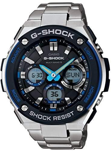 Série de S-acier de G-choc de Casio 6 bandes multi-montre solaire GST-W100D-1A2JF Mens