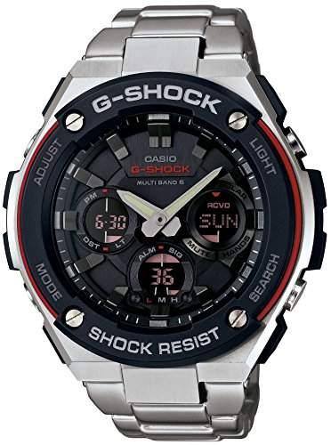 G-choc de Casio GST-W100D-1A4JF série de S-acier 6 bandes multi-montre solaire Mens