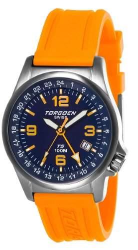 TORGOEN Swiss Herren-Armbanduhr Analog Edelstahl blau T05306