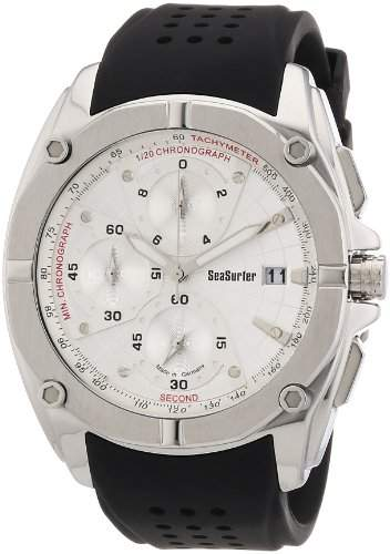 Sea Surfer Herren Chronograph Edelstahl Kautschukband Made in Germany 16534011