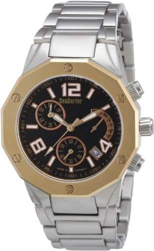 Sea Surfer Herren Chronograph Edelstahl Ionenplatiert Made in Germany 75664286