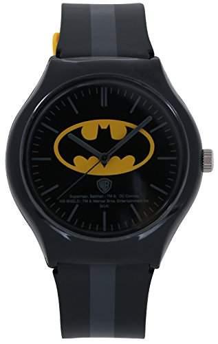 ililily DC Comics Classic Batman Logo W Two-tone Band Fashion Casual Watch watch-012-1