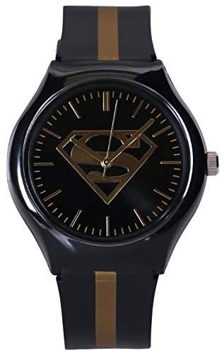 ililily DC Comics Classic Superman Logo W Two-tone Band Fashion Casual Watch watch-013-1