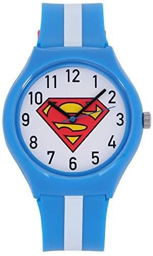 ililily DC Comics Classic Superman Logo W Two-tone Band Fashion Casual Watch watch-014-1