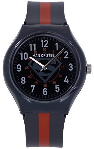 ililily DC Comics Man of Steel Superman Logo W Two-tone Band Fashion Watch watch-016-1