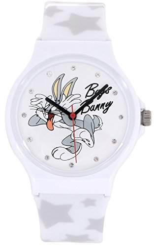 ililily Looney Tunes Bugs Bunny Logo W Star Pattern Band Fashion Casual Watch watch-019-1
