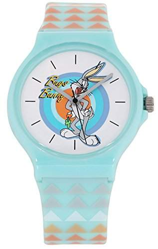 ililily Looney Tunes Bugs Bunny Logo W Tri-angle Pattern Band Fashion Watch watch-020-1