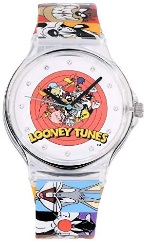 ililily Looney Tunes Characters Logo W Printed Band Fashion Casual Watch watch-023-1