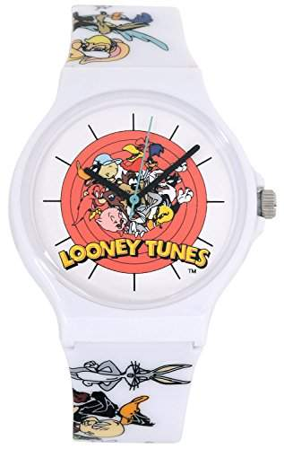 ililily Looney Tunes Characters Logo W Printed Band Fashion Casual Watch watch-024-1