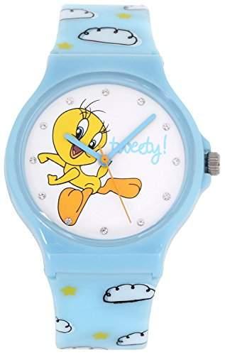 ililily Looney Tunes Tweety Logo W Cloud and Star Pattern Band Fashion Watch watch-026-1