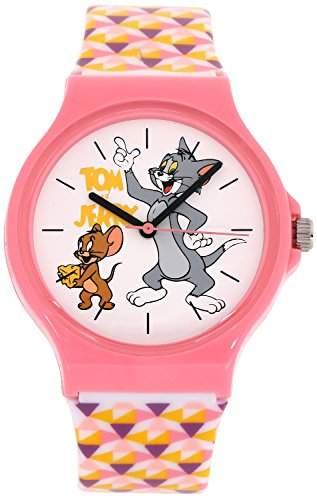 ililily Tom and Jerry Cartoon Logo W Cute Tri-angle Pattern Band Fashion Watch watch-033-1