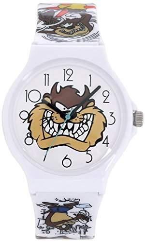 ililily Looney Tunes Taz Logo W Cute Heart Pattern Band Casual Fashion Watch watch-039-1