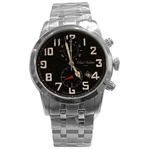 Paul Vallette Sport Herren 42mm Chronograph Datum Uhr PV150213 SS 05 GREEN