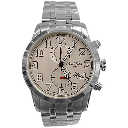Paul Vallette Sport Herren 42mm Chronograph Datum Uhr PV150213-SS-03-GREEN