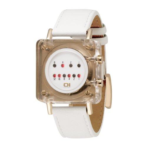 01TheOne Unisex RB904R1 Razor Block Weiss Fashion Watch