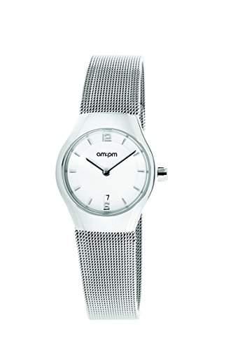 AM:PM Damen-Armbanduhr PD135-L170 Stahl Gehaeuses Silber Stahl Armband Quartz