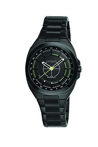 AM:PM Unisex-Armbanduhr PG117-U090 Schwarz IP Stahl Gehaeuses Und Armband Quartz