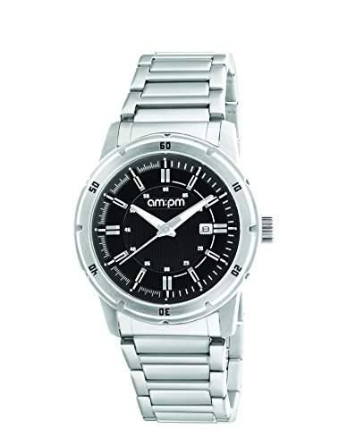 AM:PM Unisex-Armbanduhr PG119-U096 Stahl Gehaeuses Silber Stahl Armband Quartz