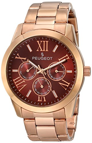 Peugeot Damen 7095br Analog Display Japanisches Quartz Rose Gold Watch