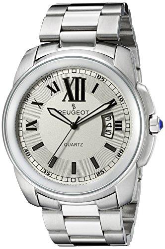 Peugeot Herren Edelstahl Silber Armbanduhr