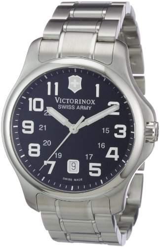 Victorinox Herren-Armbanduhr XL Classic Analog Edelstahl 241358