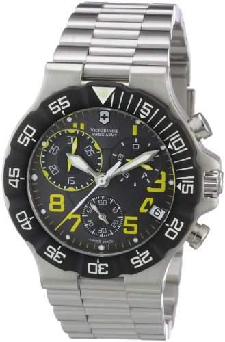 Victorinox Herren-Armbanduhr XL Active Chronograph Edelstahl 241409