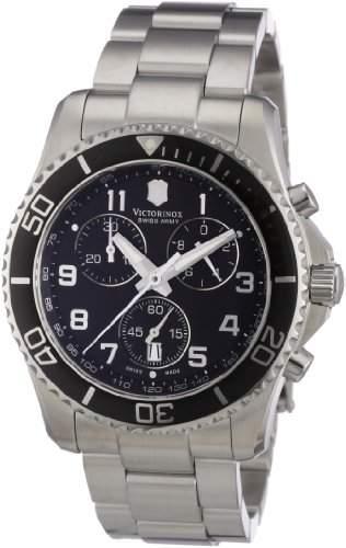 Victorinox Herren-Armbanduhr XL Classic Chronograph Edelstahl 241432
