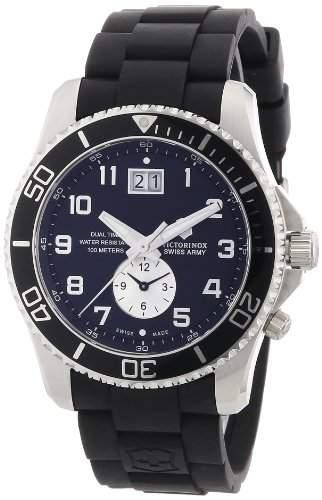 Victorinox Herren-Armbanduhr XL Classic Analog Kautschuk 241440