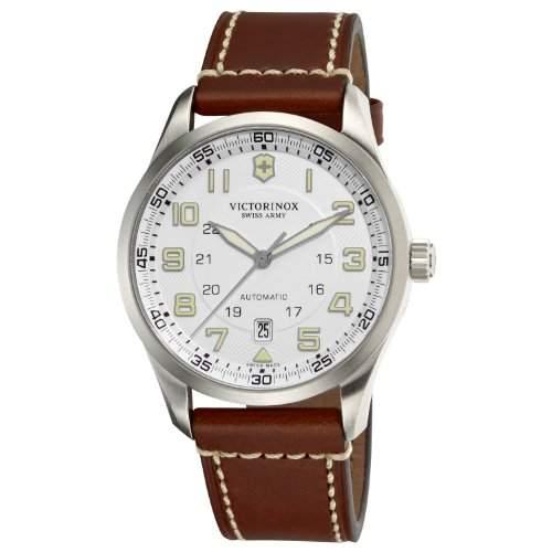 Victorinox Herren-Armbanduhr XL Professional AnalogAutomatik Leder 241505