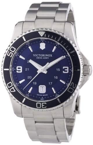 Victorinox Swiss Army Herren-Armbanduhr XL Maverick Analog Quarz Edelstahl 241602