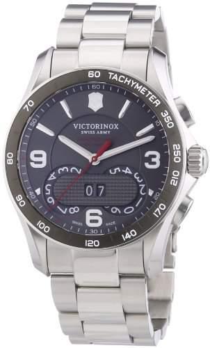 Victorinox Swiss Army Herren-Armbanduhr XL Chrono Classic Chronograph Quarz Edelstahl 241618