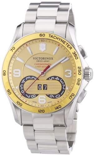 Victorinox Swiss Army Herren-Armbanduhr XL Chrono Classic Chronograph Quarz Edelstahl 241619