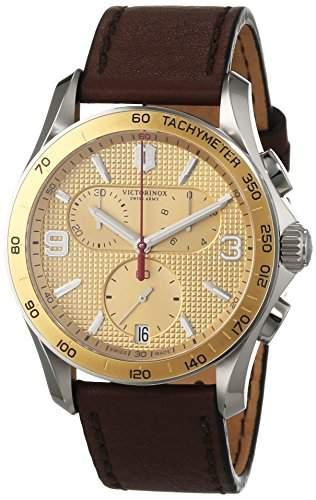 Victorinox Swiss Army Herren-Armbanduhr Chronograph Quarz Leder 241659