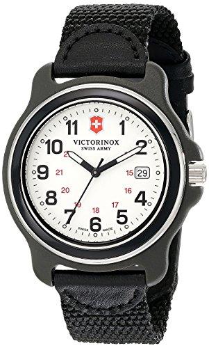Victorinox Herren 249086 Original XL Analog Display Schweizer Quarz Schwarze Armbanduhr