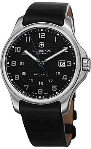 Victorinox Swiss Army Herren Armbanduhr Officers Officer s Mechanical Analog Automatik Leder 241670 1