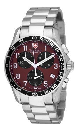 Victorinox Swiss Army Herren 241148 Classic Chronograph Rot Zifferblatt Armbanduhr