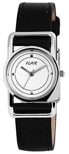 Damenuhr mit Lederimitationarmband Weiss Armbanduhr Uhr 100322000033