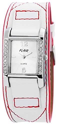 Damenuhr mit Lederimitationarmband silberfarbig Armbanduhr Uhr 100322500052