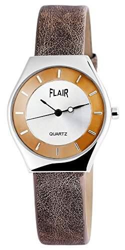 Damenuhr mit Lederimitationarmband silberfarbig Armbanduhr Uhr 100322600008