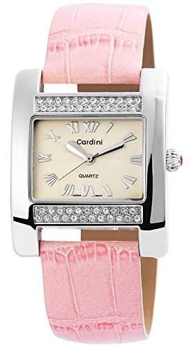 Damenuhr mit Lederimitationarmband Creme Armbanduhr Uhr 100327500053