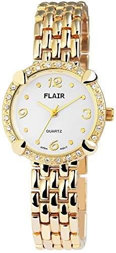 Damenuhr mit Metallarmband Weiss Armbanduhr Uhr 100402000020