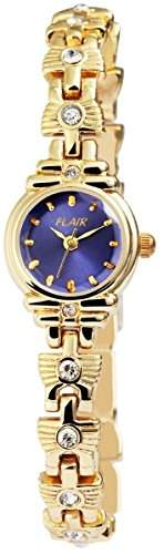 Damenuhr mit Metallarmband Blau Armbanduhr Uhr 100403000029