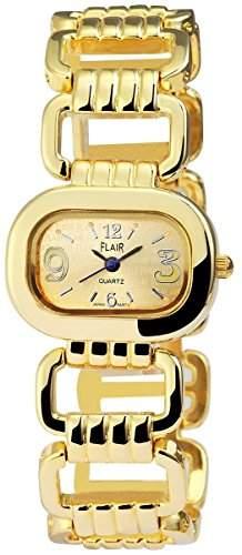 Damenuhr mit Metallarmband goldfarbig Armbanduhr Uhr 100404000027