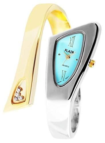 Damenuhr mit Metall-Spange Hellblau Armbanduhr Uhr 100413500057