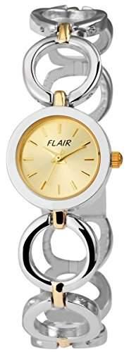 Damenuhr mit Metallarmband goldfarbig Armbanduhr Uhr 100414000019