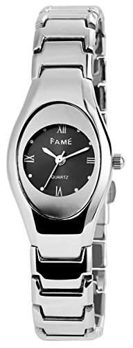 Damenuhr mit Metallarmband Anthrazit Armbanduhr Uhr 100421000051
