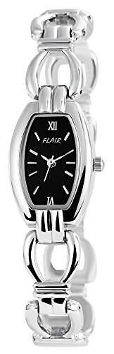 Damenuhr mit Metallarmband Schwarz Armbanduhr Uhr 100421000059